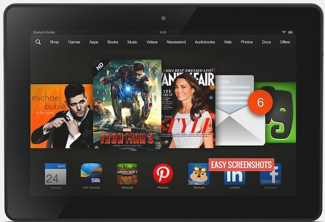 Take Screenshot On Amazon Kindle HDX 7, Take Easy Screenshots on Amazon Kindle HDX 7