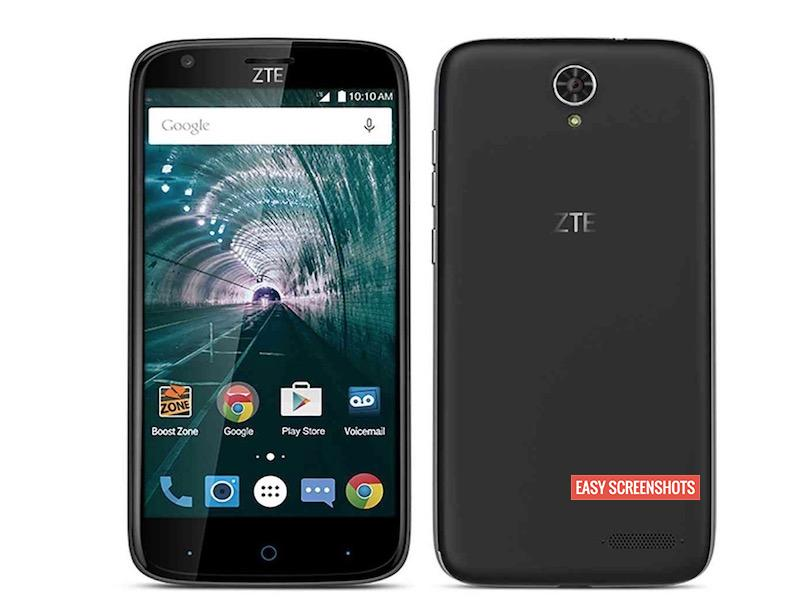 how to take screenshot in ZTE warp 7
